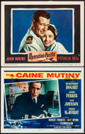 "Movie Posters:War, The Caine Mutiny & Other Lot (Columbia, 1954). Fine/Very Fine.Lobby Cards (2) (11"" X 14""). War.. ... (Total: 2 Items)"