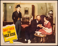 """The Gold Rush (United Artists, R-1942). Very Fine-. Lobby Card (11"""" X 14""""). Comedy"""