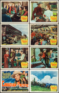 Canadian Pacific & Other Lot (20th Century Fox, 1949). Very Fine-. Lobby Card Set of 8, Title Cards (2), & Lobby...