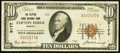 National Bank Notes:Virginia, Clifton Forge, VA - $10 1929 Ty. 1 The Clifton Forge NB Ch. # 9177Very Fine.. ...