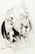 Original Comic Art:Illustrations, Murphy Anderson - Batman and Superman Illustration Original Art (c.1990-2000s)....