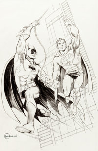 Murphy Anderson - Batman and Superman Illustration Original Art (c. 1990-2000s)