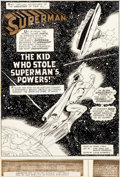 Original Comic Art:Splash Pages, Curt Swan and Murphy Anderson Superman #254 Splash Page 1 Original Art (DC, 1972)....