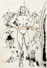 "Murphy Anderson Secret Origins #8 ""Doll Man"" Splash Page 1 and Preliminary Original Art (DC, 1986).... (Total:..."