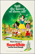 "Movie Posters:Animation, Snow White and the Seven Dwarfs & Other Lot (Buena Vista, R-1975). Folded, Overall: Very Fine-. One Sheets (2) (27"" X 41"") &... (Total: 3 Items)"