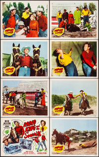 Rodeo King and the Senorita & Other Lot (Republic, 1951). Very Fine. Lobby Card Sets of 8 (2 Sets), Title Card, &...