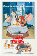 """Movie Posters:Animation, Lady and the Tramp & Other Lot (Buena Vista, R-1980). Folded, Overall: Fine/Very Fine. One Sheets (2) (27"""" X 41""""), Trimmed O... (Total: 14 Items)"""