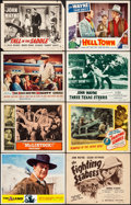 """Movie Posters:Western, The Alamo & Other Lot (United Artists, R-1967). Overall:Fine/Very Fine. Lobby Cards (13), Title Cards (2) (11"""" X 14""""..."""