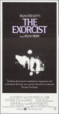 "Movie Posters:Horror, The Exorcist (Warner Brothers, 1974). Folded, Very Fine. Three Sheet (41"" X 79""). Horror.. ..."