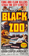 "Movie Posters:Horror, Black Zoo (Allied Artists, 1963). Folded, Fine/Very Fine. ThreeSheet (41"" X 79""). Horror.. ..."