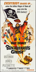 "Movie Posters:Comedy, Blackbeard's Ghost (Buena Vista, 1968). Folded, Very Fine. ThreeSheet (41"" X 84""). Comedy.. ..."