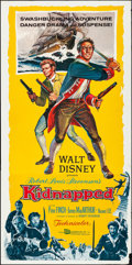 "Movie Posters:Adventure, Kidnapped (Buena Vista, 1960). Folded, Very Fine-. Three Sheet (41"" X 83""). Adventure.. ..."