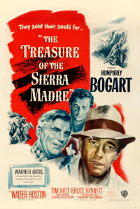 """The Treasure of the Sierra Madre (Warner Brothers, 1948). Fine on Linen. One Sheet (27"""" X 41"""")"""