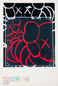After KAWS Kaws C9, exhibition poster, 2002 Offset lithograph in colors on paper 17-3/8 x 11-3/4 inches (44.1 x 29.8