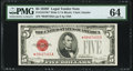 Fr. 1531* $5 1928F Wide I Legal Tender Star Note. PMG Choice Uncirculated 64