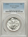 1938 50C Oregon MS64 PCGS. PCGS Population: (517/1478). NGC Census: (171/1042). CDN: $180 Whsle. Bid for problem-free NG...