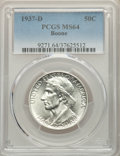1937-D 50C Boone MS64 PCGS. PCGS Population: (239/538). NGC Census: (158/373). CDN: $210 Whsle. Bid for problem-free NGC...