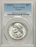 1938-D 50C Oregon MS64 PCGS. PCGS Population: (357/1788). NGC Census: (134/1222). CDN: $180 Whsle. Bid for problem-free...