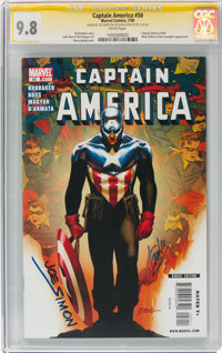 Captain America #50 (Marvel, 2009) CGC Signature Series NM/MT 9.8 White pages