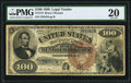 Large Size:Legal Tender Notes, Fr. 173 $100 1880 Legal Tender PMG Very Fine 20.. ...