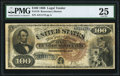 Large Size:Legal Tender Notes, Fr. 178 $100 1880 Legal Tender PMG Very Fine 25.. ...