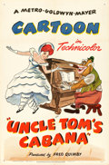 "Movie Posters:Animation, Uncle Tom's Cabana (MGM, 1947). Fine/Very Fine on Linen. One Sheet(27"" X 41"").. ..."