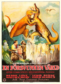 "The Lost World (First National, 1925). Very Fine- on Linen. Swedish Oversized Poster (38.5"" X 45.25"")"