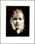 """Movie Posters:Drama, Greta Garbo in The Kiss by Clarence Sinclair Bull (1979). Near Mint. Signed and Numbered Portrait Photo (16"""" X 20"""").. ..."""