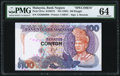 World Currency, Malaysia Bank Negara 100 Ringgit ND (1992) Pick 32As KNB37s Specimen PMG Choice Uncirculated 64.. ...