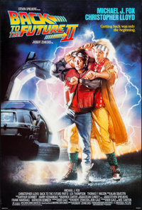 "Back to the Future Part II (Universal, 1989). Rolled, Very Fine+. One Sheet (27"" X 40"") SS. Drew Struzan Artwo..."