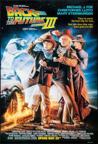 "Back to the Future Part III (Universal, 1990). Rolled, Very Fine+. One Sheet (27"" X 40"") DS, Advance. Drew Str..."