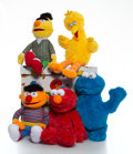 Collectible:Contemporary, KAWS X Sesame Street. Set of Five Toys, 2018. Plush toys. 19-1/2 x 12 x 5-1/2 inches (49.5 x 30.5 x 14 cm). Open Edition...
