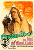 Movie Posters:Adventure, Captain Blood (Warner Brothers, R-1948). Fine/Very Fine on...