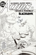 Original Comic Art:Covers, Curt Swan and Murphy Anderson Action Comics Weekly #633Cover Blackhawk Original Art (DC, 19...