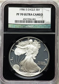 Modern Bullion Coins, 1986-S $1 Silver Eagle PR70 Ultra Cameo NGC. NGC Census: (3412). PCGS Population: (3799). ...
