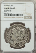 Morgan Dollars, 1879-CC $1 -- Cleaned -- NGC Details. Fine. NGC Census: (123/2302). PCGS Population: (204/4671). CDN: $170 Whsle. Bid for p...