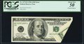 Printed Foldover Fr. 2175-D $100 1996 Federal Reserve Note. PCGS About New 50