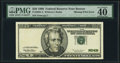 Missing Print Error Fr. 2083-A $20 1996 Federal Reserve Note. PMG Extremely Fine 40