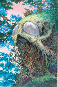 "Bernie Wrightson Bernie Wrightson: Master of the Macabre Trading Card #57 ""Lost in the Woods"" Painting Swamp T..."