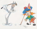 Animation Art:Production Drawing, Virgil Ross - Bugs Bunny and Angus MacRory Drawing (WarnerBrothers, c. 1990s). ...