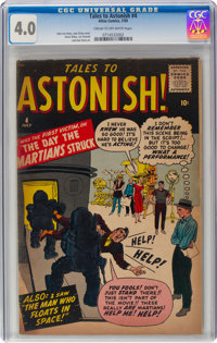 Tales to Astonish #4 (Marvel, 1959) CGC VG 4.0 Cream to off-white pages