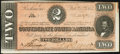 Confederate Notes:1864 Issues, T70 $2 1864 PF-5 Cr. 567 Choice About Uncirculated.. ...