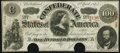 Confederate Notes:1863 Issues, T56 $100 1863 Fine-Very Fine PF-1 Cr. 403.. ...