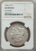 1890-CC $1 -- Cleaned -- NGC Details. AU. NGC Census: (101/5855). PCGS Population: (186/11535). CDN: $200 Whsle. Bid for...