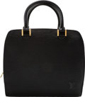 """Luxury Accessories:Bags, Louis Vuitton Black Epi Leather Pont-Neuf Bag. Condition: 2. 9.5"""" Width x 9"""" Height x 4"""" Depth. ..."""