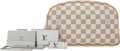 Luxury Accessories:Accessories, Louis Vuitton Set of 5: Damier Azur Pochette, Silver Card Holders & Money Clip. Condition: 1. See Extended Condition R... (Total: 4 Items)
