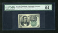 Fractional Currency:Fifth Issue, Fr. 1264 10c Fifth Issue PMG Choice Uncirculated 64EPQ. A very nice example of this scarcer green back Meredith note that lo...