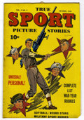 "Golden Age (1938-1955):Non-Fiction, True Sport Picture Stories V2#9 Davis Crippen (""D"" Copy) pedigree(Street & Smith, 1944) Condition: FN...."