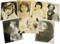 "Movie/TV Memorabilia:Autographs and Signed Items, Assorted Starlet Signed Photos. Set of one 5"" x 7"" and five b&w8"" x 10"" signed photos, including Billie Dove, Anna Sten, Co..."