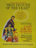 "Movie Posters:Drama, A Man for All Seasons (Columbia, 1966). Double Sided Poster (30"" X40""). Double-sided posters from this era are exceptionall..."